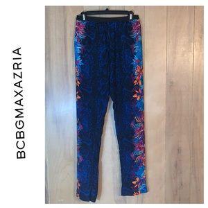BCBGMaxAzria MICHAEL Black Floral Pants Size XS